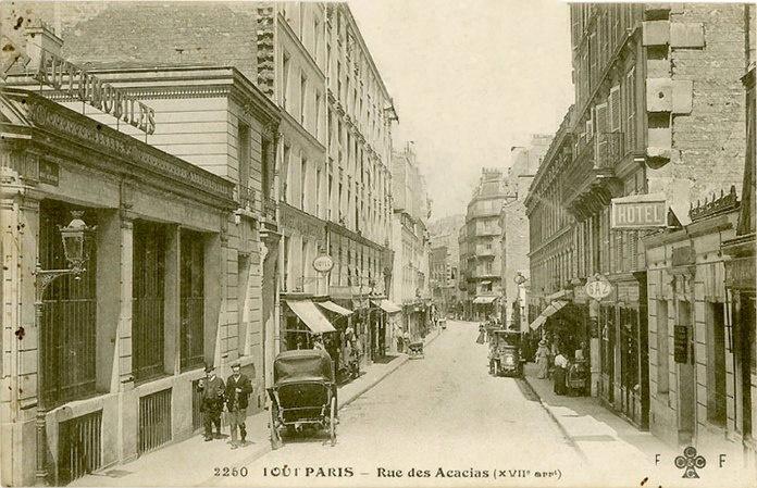 Carte postale rue des acacias - hôtel acacias étoile